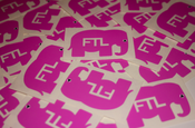 Image of Pink FTL Elephant Stickers (Limited Edition)