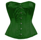 Image of Dark Green Satin Overbust