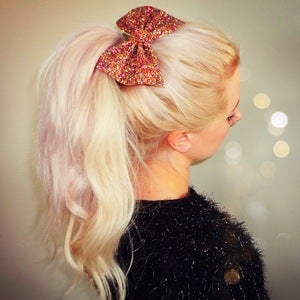 Image of Metallic Glitter Bow Hair Clip (Available in 11 Colours)