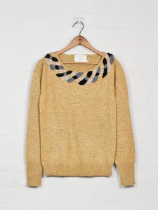 Image of Plaited Collar Jumper - Yellow<br>- was £199 -