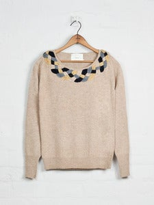 Image of Plaited Collar Jumper - Beige<br>- was £199 -