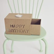Image of Caja corredera de Papel Art HAPPY BIRTHDAY