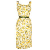 Image of Lemon Vintage Inspired Floral Dress