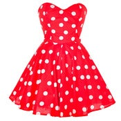Image of Red Polka Dot Party Dress
