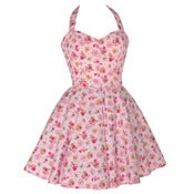 Image of 50s Style Sweetheart Rose Print Dress