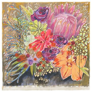 "Image of flowers for janie 40""x40"""