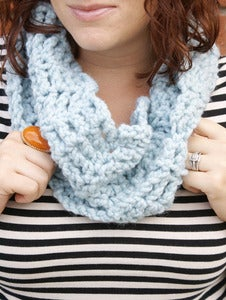 Image of November Blue, crocheted infinity cowl
