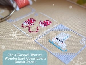Image of Cosmo Embroidery Floss Palette : Kawaii Winter Wonderland Countdown