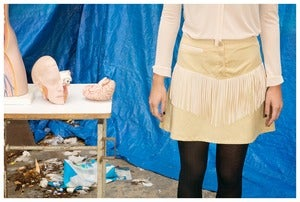 Image of SKIN FRINGES SKIRT