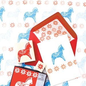 Image of Dala Horse Stamp Set