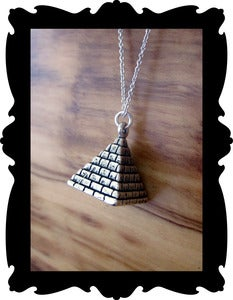 Image of Acid Cult Sterling Silver Pyramid Necklace