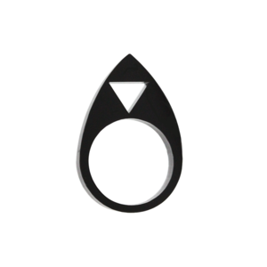 Image of Symbolic Silhouette Triangle Ring