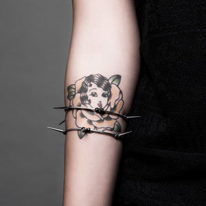 Image of Mercy. Barbwire Upper Forearm Bracelet