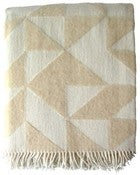 Image of Beige Twist a Twill blanket