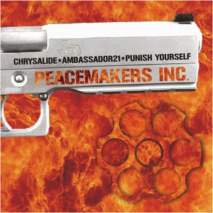 "Image of CHRYSALIDE / AMBASSADOR21 / PUNISH YOURSELF ""Peacemakers Inc.(II)"" + button"