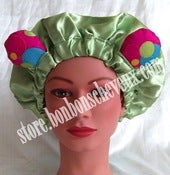 Image of Lime Gummy Bear BonBons Bonnet Adult &amp; Child Sizes
