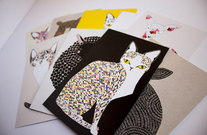 Image of  Animal Post Card Set by Gingiber
