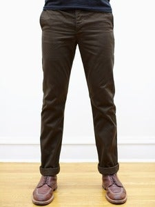 Image of Chocolate Japanese 10oz Twill Tailored Chinos
