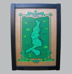 Image of appalachian trail - framed