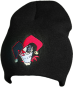 Image of Black Cartoon Beanie