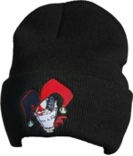 Image of Black Cartoon Beanie - (FOLD UP)