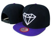 Image of NEW! Diamond Supply Co. Big Rock Snapback Hat (Black/Purple)