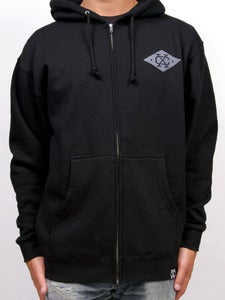 Image of SHIELD ZIP-UP (Black)
