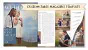 Image of Wedding Magazine Template