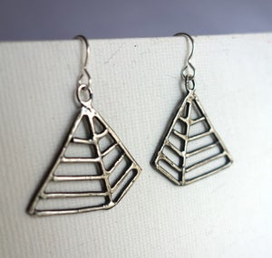 Image of Oxidized Pyramid Earrings