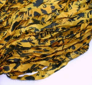 Image of Bold Yellow: Jersey Girl Reclaimed Silk Ribbon