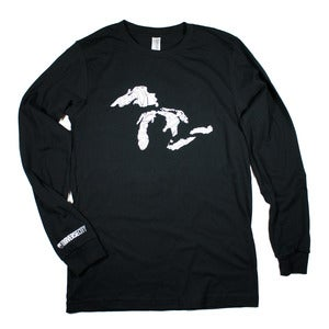 Image of Great Lakes Long Sleeve T-Shirt Black