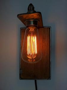 Image of oak wall light