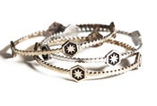 Image of Baby Hex Bangle Set