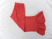 Image of Red Dot Ruffle Pants