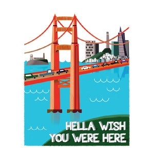 Image of Relationship: Hella Wish You Were Here Card