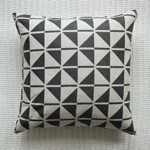 Image of Black Faroese Patterned Cushion