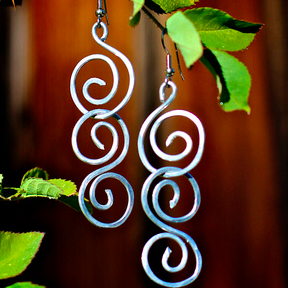 Image of Triple Spiral Earrings