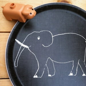 Image of Kids Linen Tray: Elephant