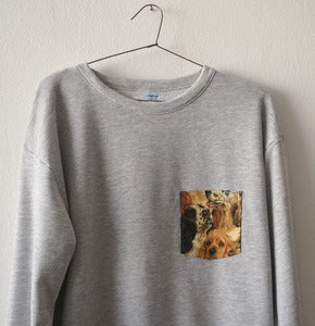 Image of DOGS POCKET GREY SWEATSHIRT