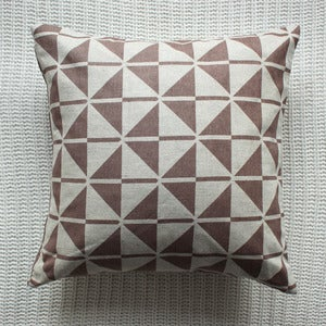 Image of Beige Faroese Patterned Cushion