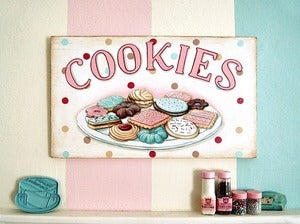 Image of COOKIES vintage style hand painted sign