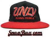Image of Vintage Deadstock UNLV Running Rebels Sports Specialties Wool Script Snapback Hat Cap