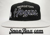 Image of Vintage Deadstock Georgetown Hoyas Sports Specialties Script Wool Snapback Hat Cap