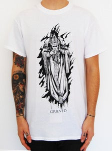 "Image of GRIEVED ""Samaritans"" t shirt white"