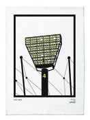 Image of iconic lights tea towel