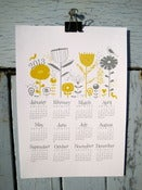 Image of 2013 Calendar print A4 grey and mustard
