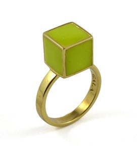 Image of Semblance Ring Leaf/Brass