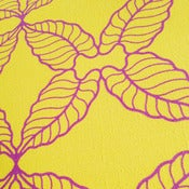 Image of Caladium Wallpaper (Yellow/Purple)