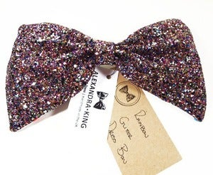 Image of Glitter Dress Bow - COLOUR OPTIONS
