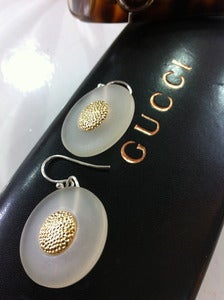 Image of Gucci vintage button earrings
